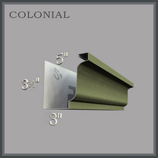 "5K - Colonial Style, 5"" Gutter - Most Popular Profile - Residential Application"